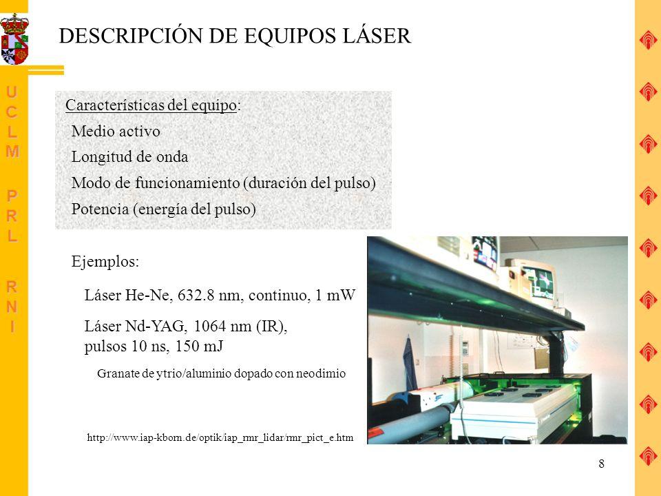 DESCRIPCIÓN DE EQUIPOS LÁSER