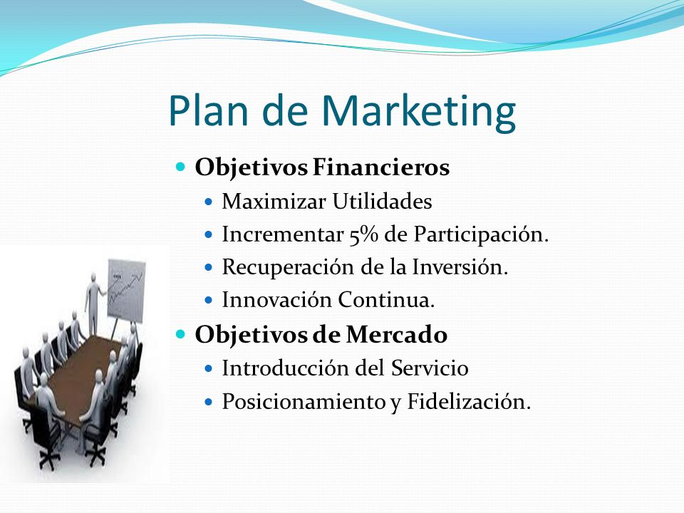 Plan de Marketing Objetivos Financieros Objetivos de Mercado