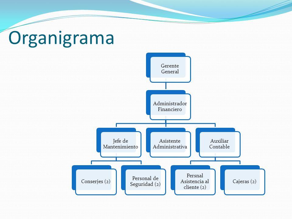 Organigrama Gerente General Administrador Financiero