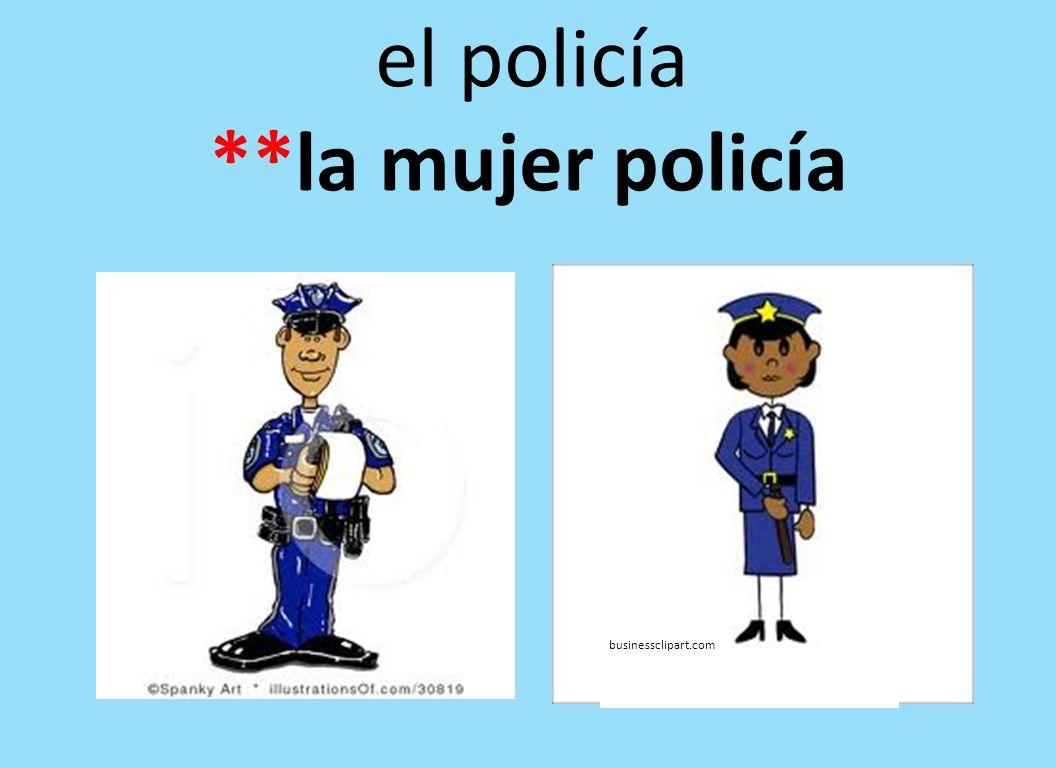 el policía **la mujer policía businessclipart.com
