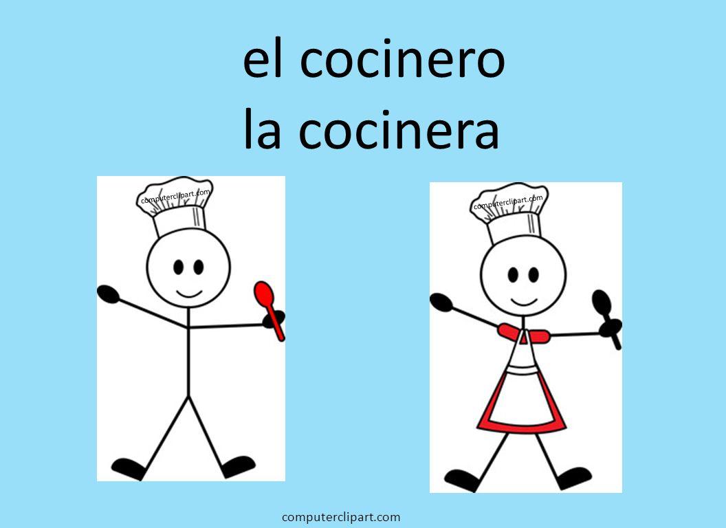 el cocinero la cocinera computerclipart.com computerclipart.com