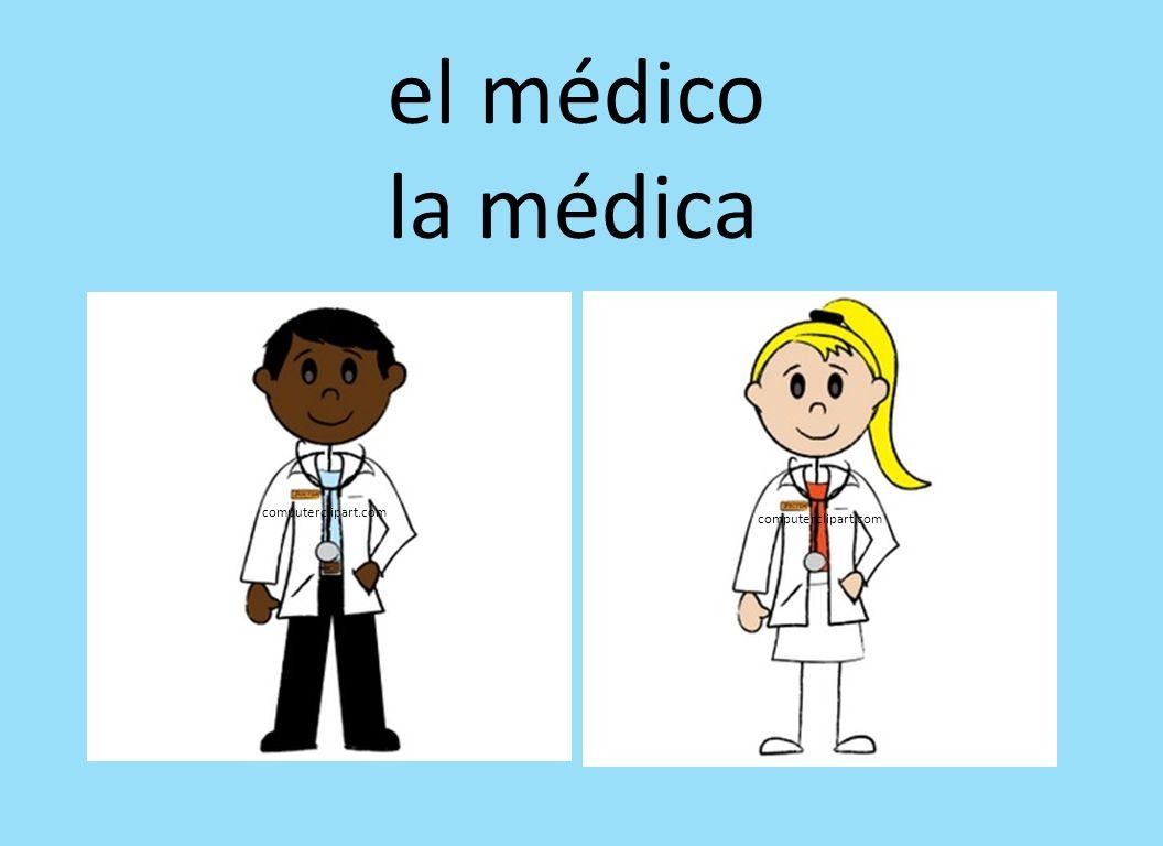 el médico la médica computerclipart.com computerclipart.com
