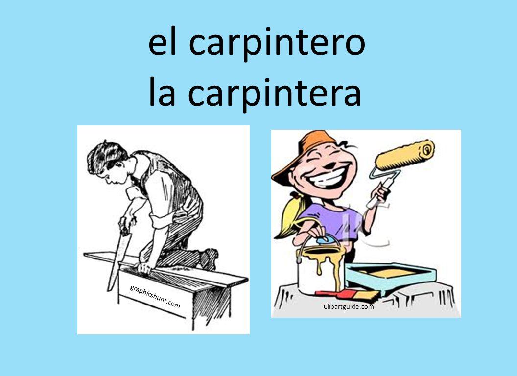 el carpintero la carpintera graphicshunt.com Clipartguide.com