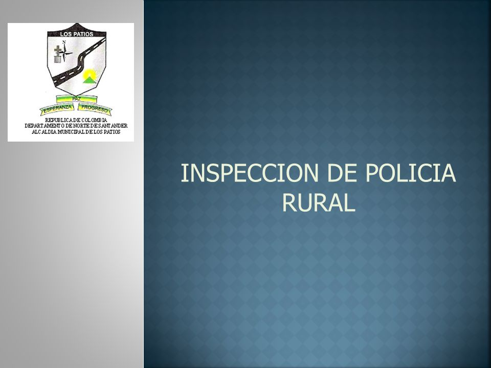 INSPECCION DE POLICIA RURAL