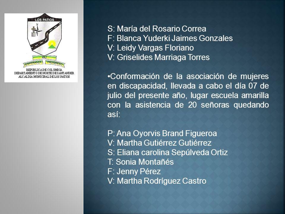 S: María del Rosario Correa