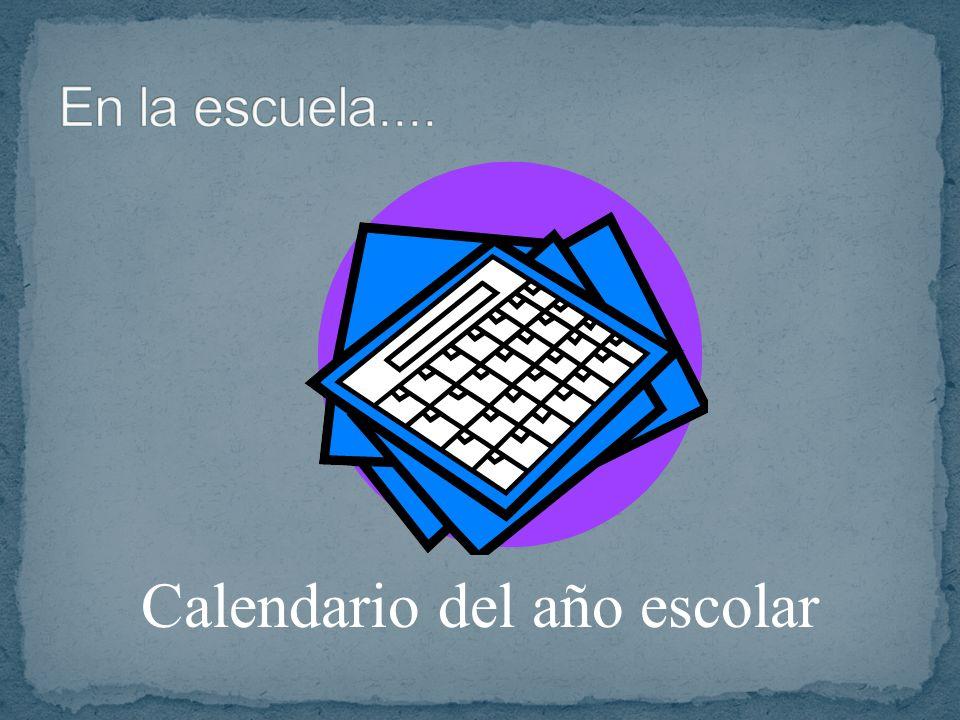 Calendario del año escolar