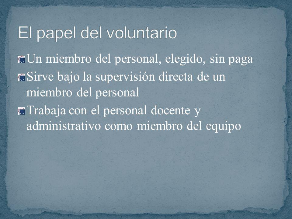 El papel del voluntario
