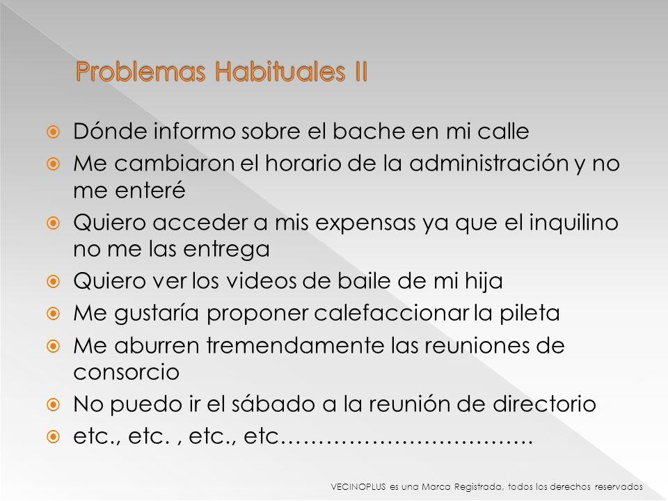 Problemas Habituales II