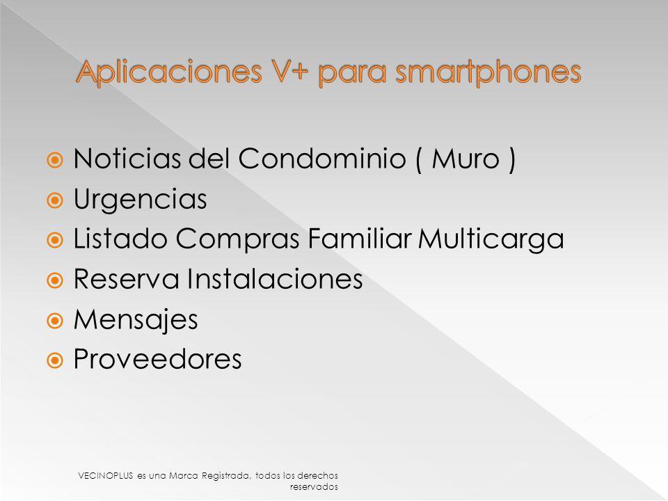 Aplicaciones V+ para smartphones