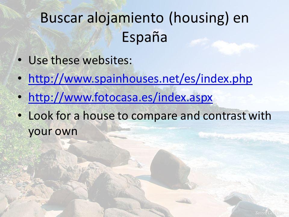 Buscar alojamiento (housing) en España