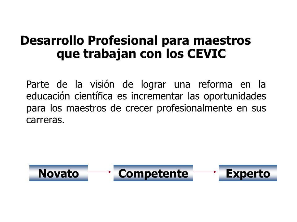 Desarrollo Profesional para maestros que trabajan con los CEVIC