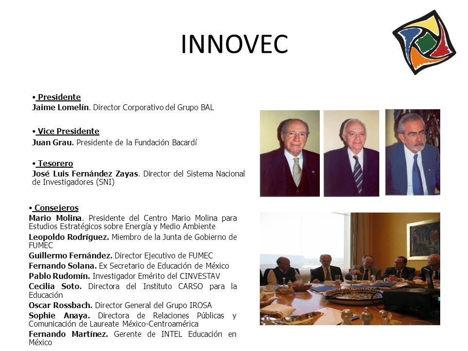 INNOVEC Presidente Jaime Lomelín. Director Corporativo del Grupo BAL