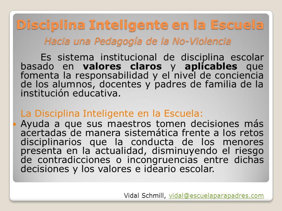 Disciplina Inteligente en la Escuela