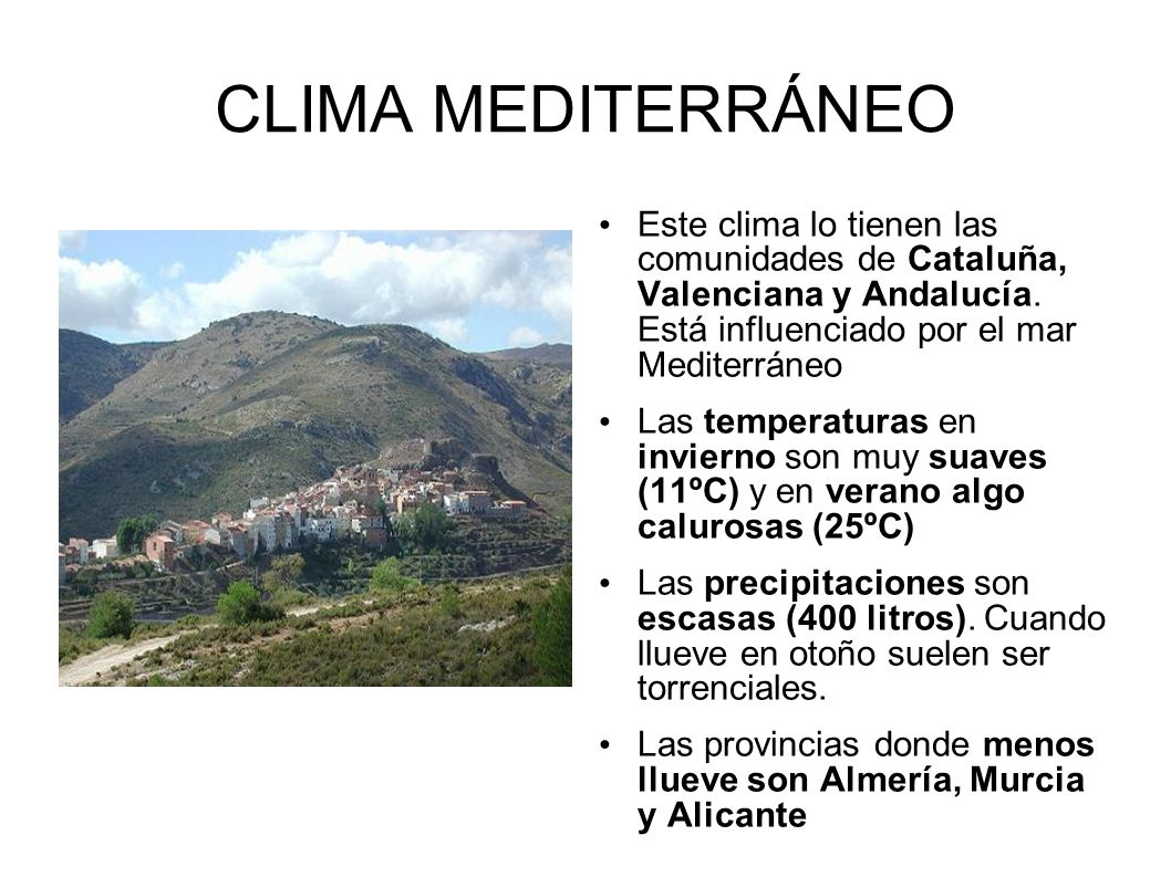 Oce nico los climas de espa a ppt descargar for Clima mediterraneo de interior