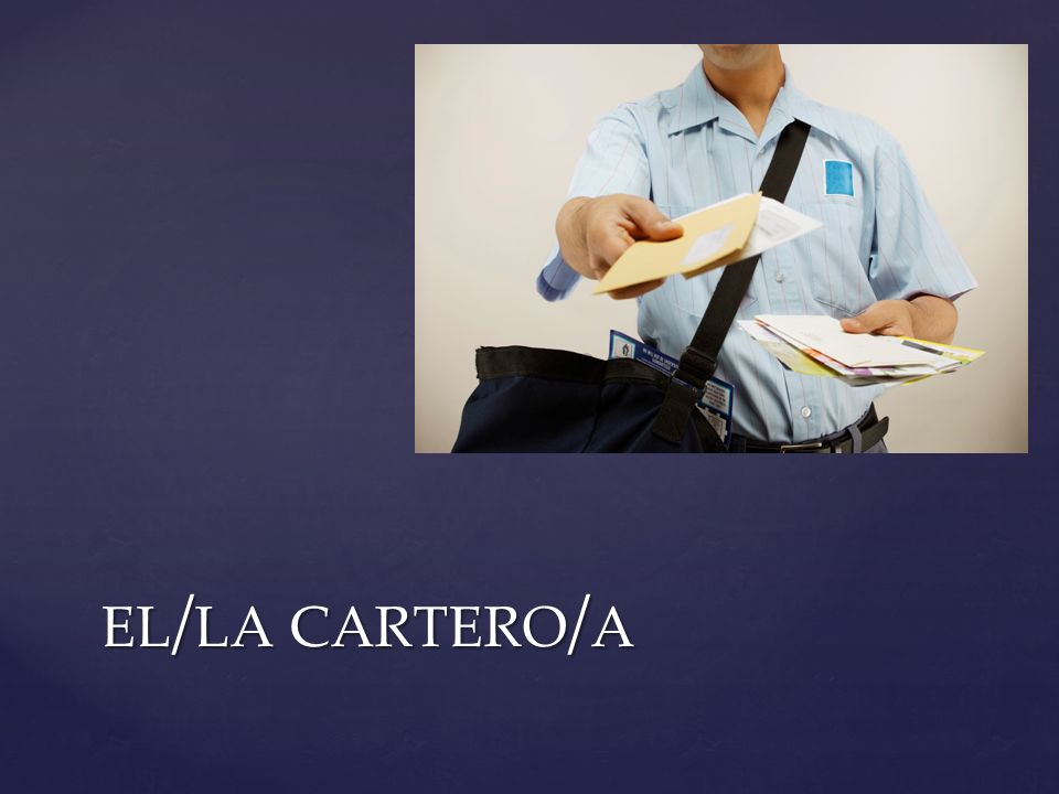 el/la cartero/a