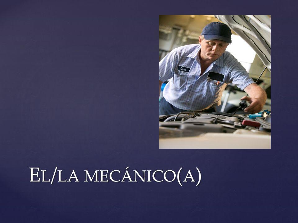 El/la mecánico(a)
