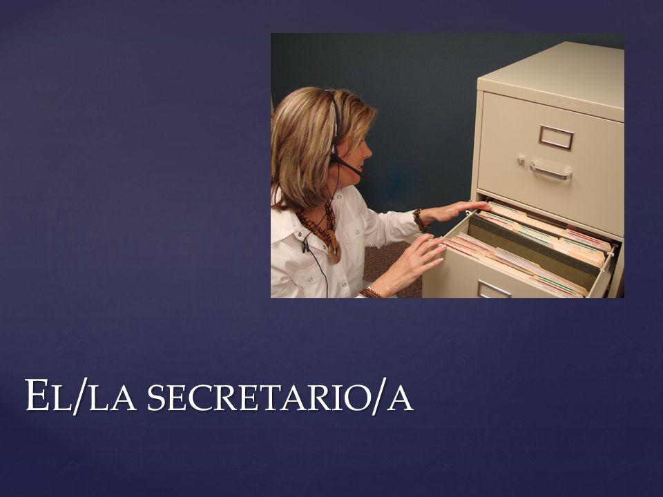 El/la secretario/a