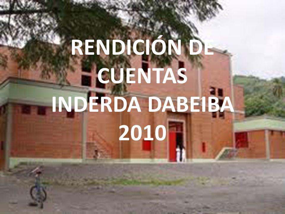RENDICIÓN DE CUENTAS INDERDA DABEIBA 2010