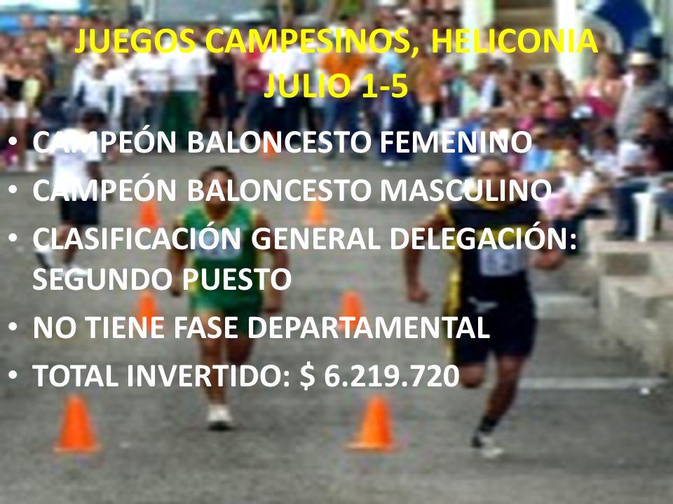 JUEGOS CAMPESINOS, HELICONIA JULIO 1-5
