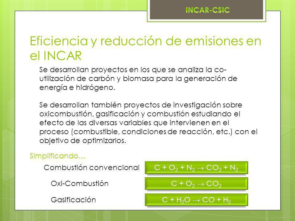 Eficiencia y reducción de emisiones en el INCAR