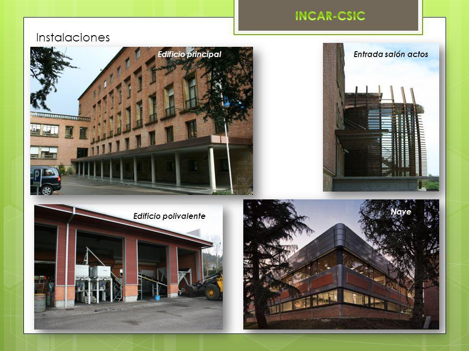 Instalaciones Edificio principal Entrada salón actos Nave
