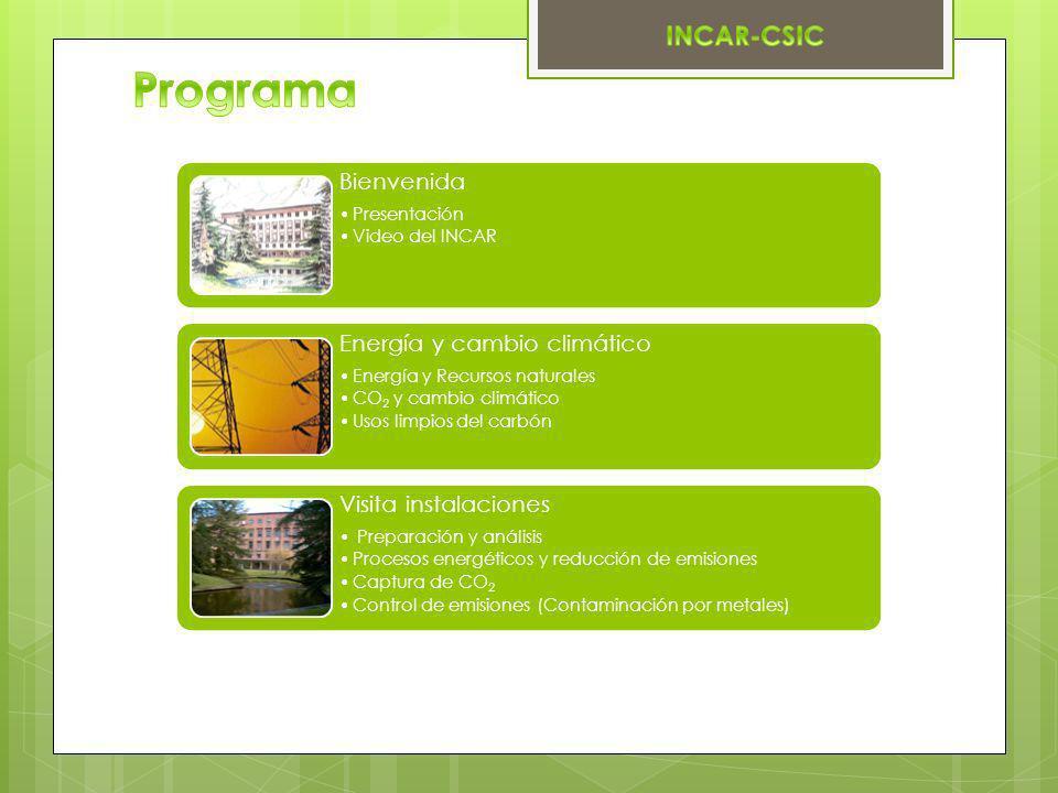 Programa Bienvenida Energía y cambio climático Visita instalaciones
