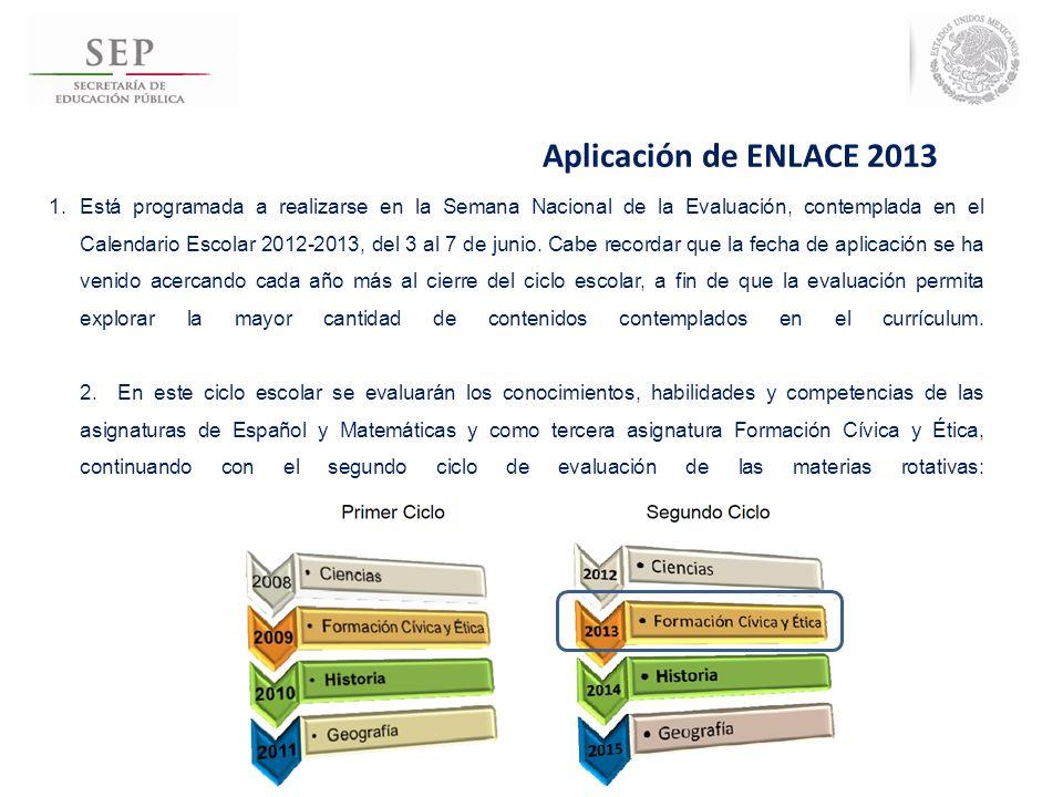 Aplicación de ENLACE 2013