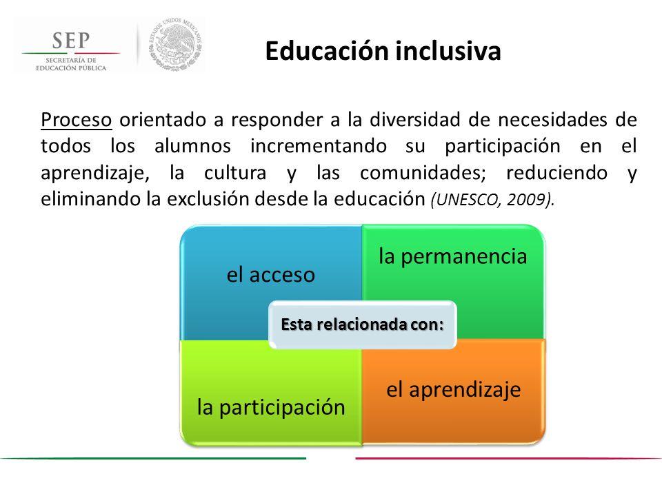 Educación inclusiva el acceso la permanencia la participación