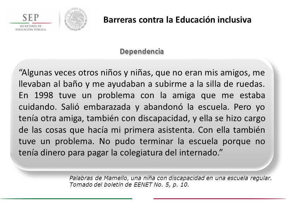 Barreras contra la Educación inclusiva