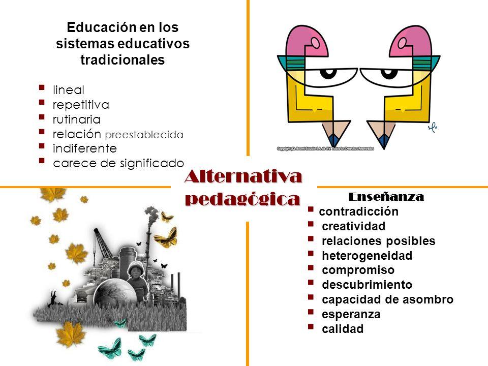 Educación en los sistemas educativos tradicionales