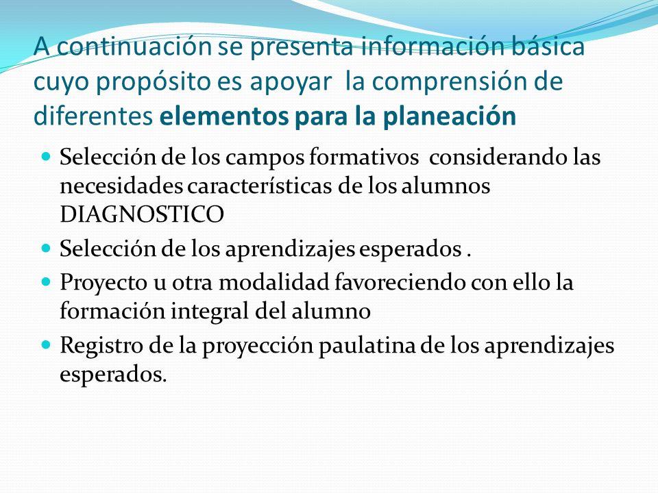 A continuación se presenta información básica cuyo propósito es apoyar la comprensión de diferentes elementos para la planeación