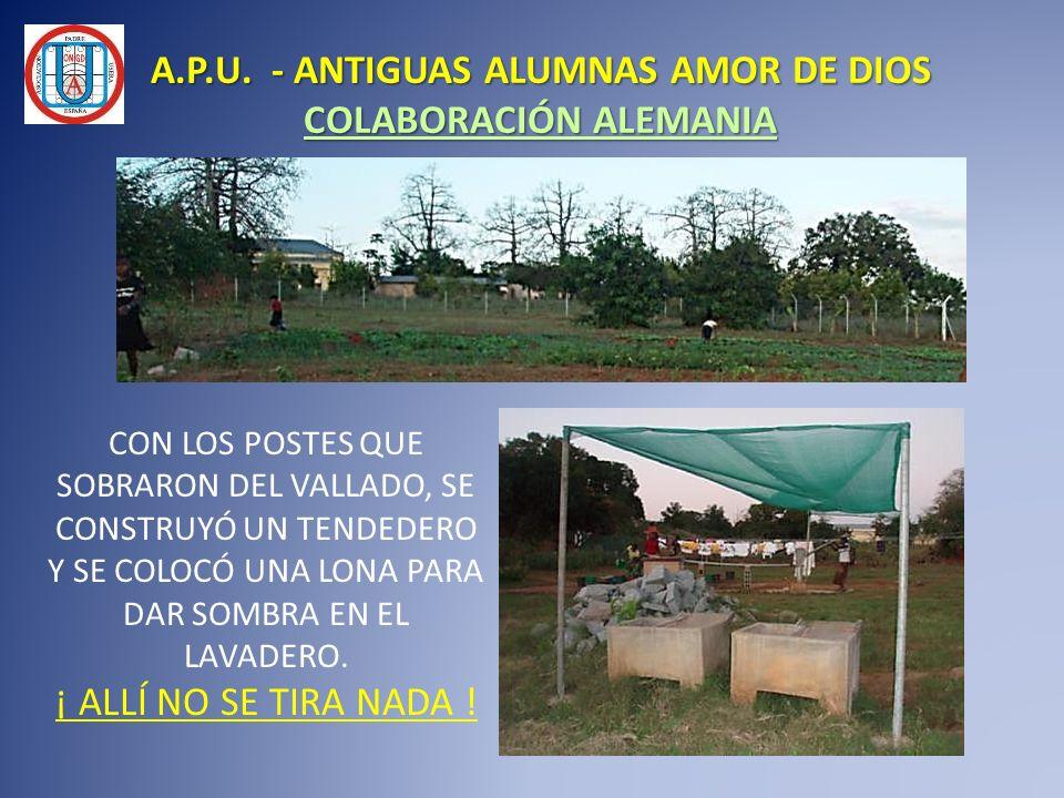 A.P.U. - ANTIGUAS ALUMNAS AMOR DE DIOS COLABORACIÓN ALEMANIA