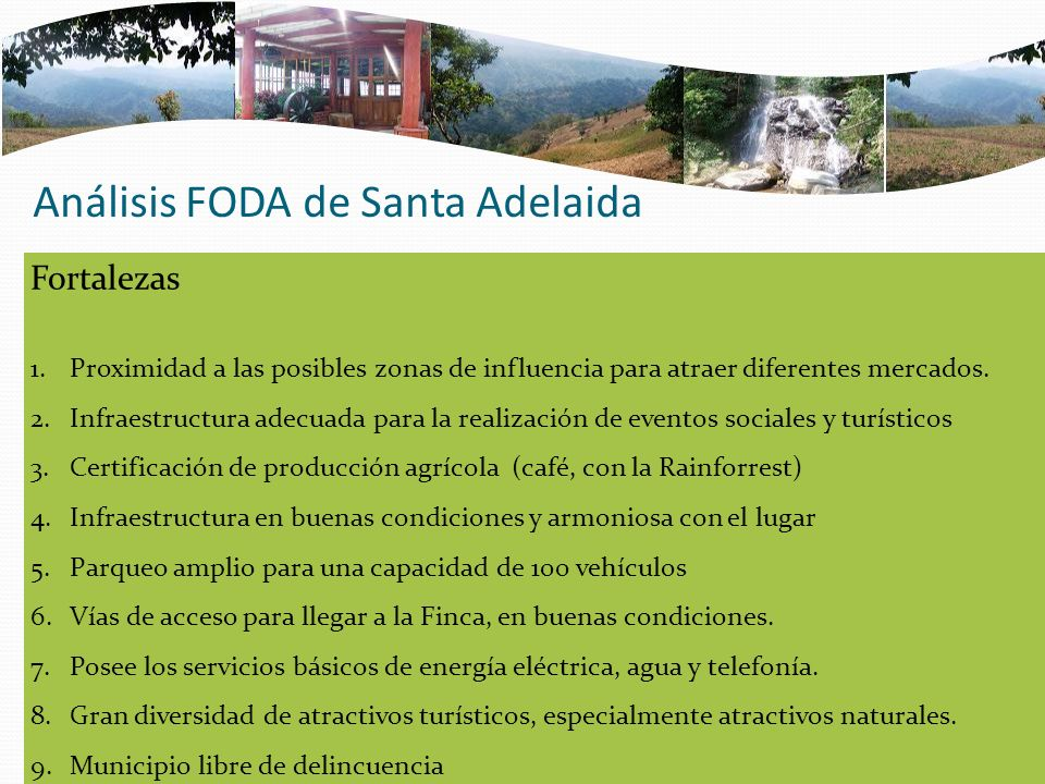 Análisis FODA de Santa Adelaida