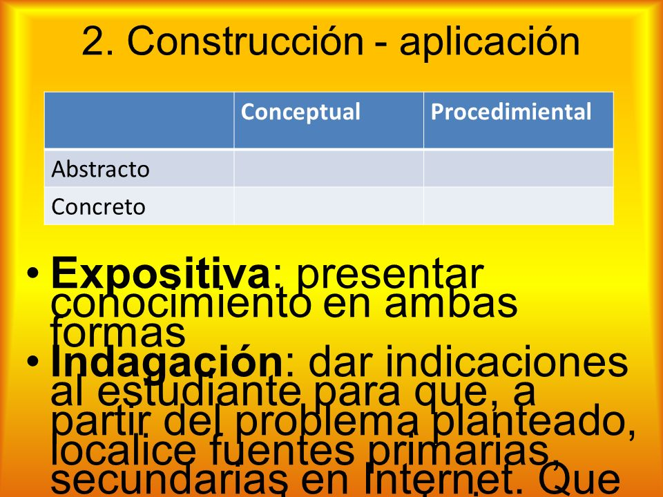 2. Construcción - aplicación