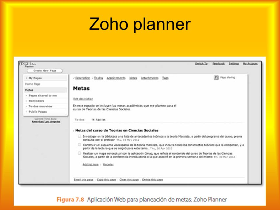 Zoho planner