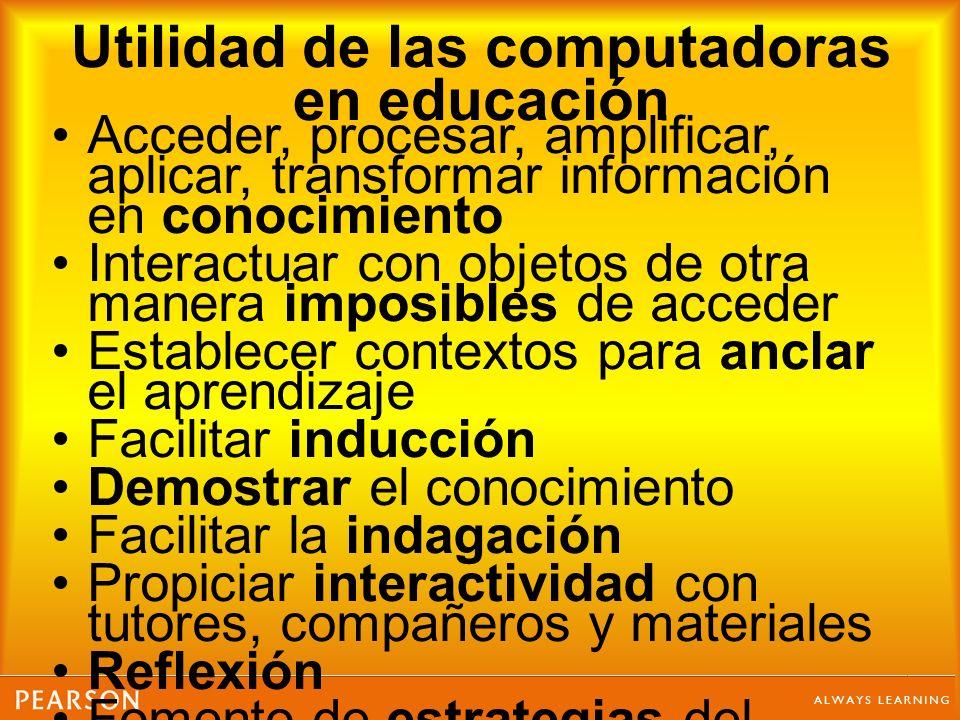 Utilidad de las computadoras en educación