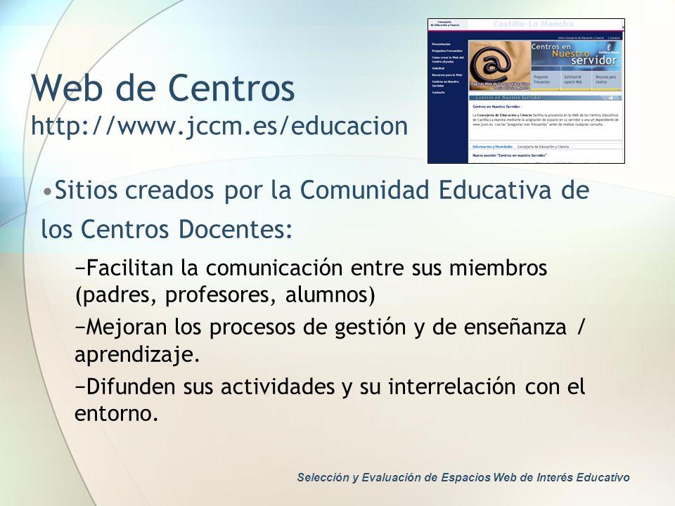 Web de Centros http://www.jccm.es/educacion