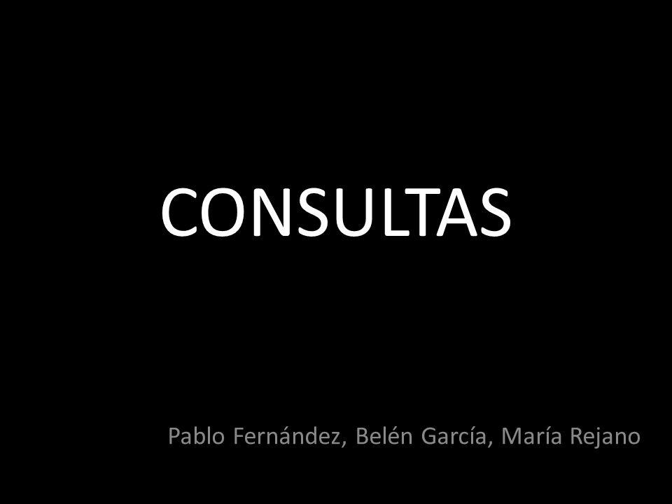 Pablo Fernández, Belén García, María Rejano