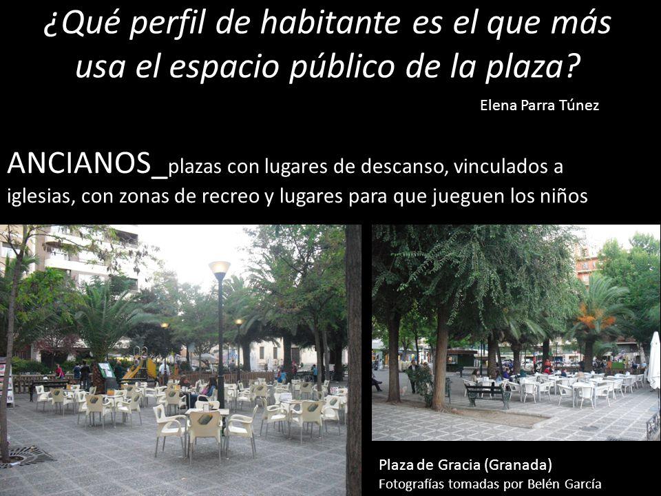 ¿Qué perfil de habitante es el que más usa el espacio público de la plaza