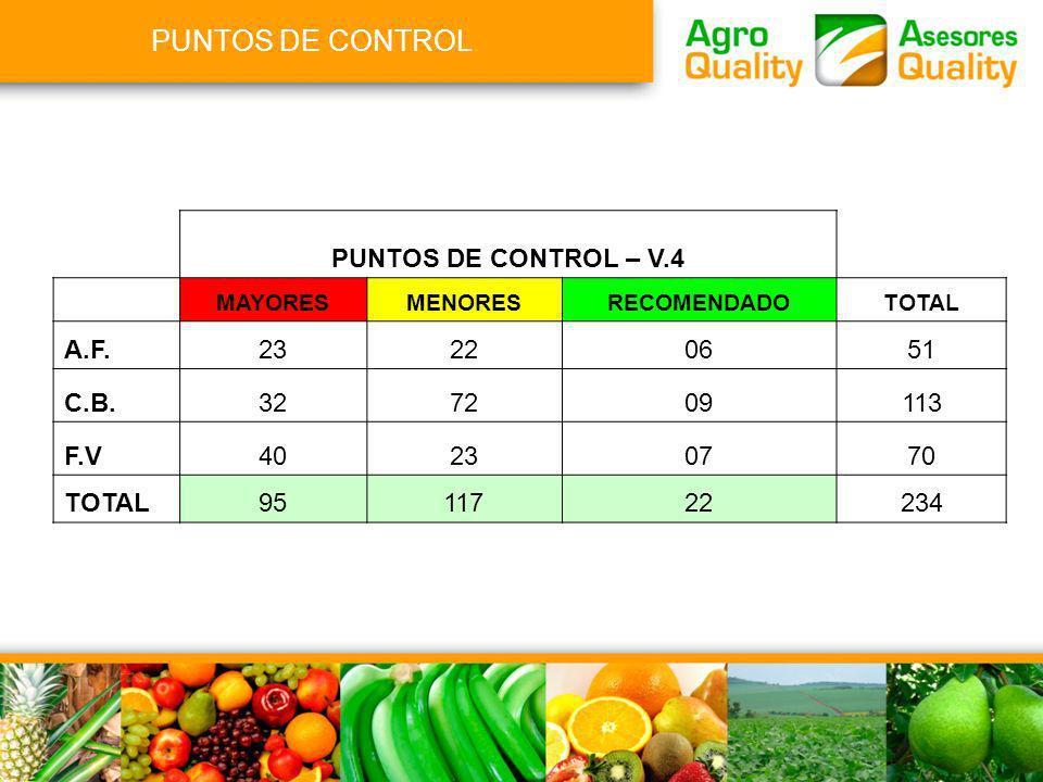 PUNTOS DE CONTROL PUNTOS DE CONTROL – V.4 A.F. 23 22 06 51 C.B. 32 72