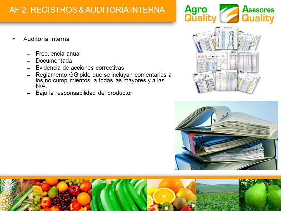 AF 2. REGISTROS & AUDITORÍA INTERNA