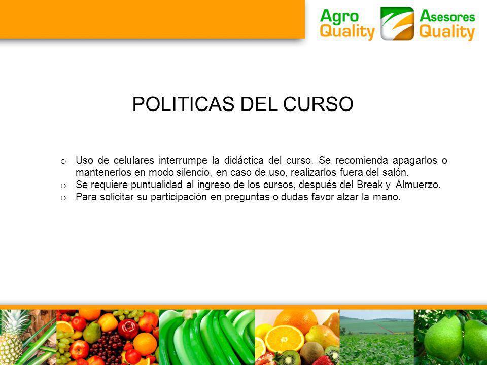 POLITICAS DEL CURSO