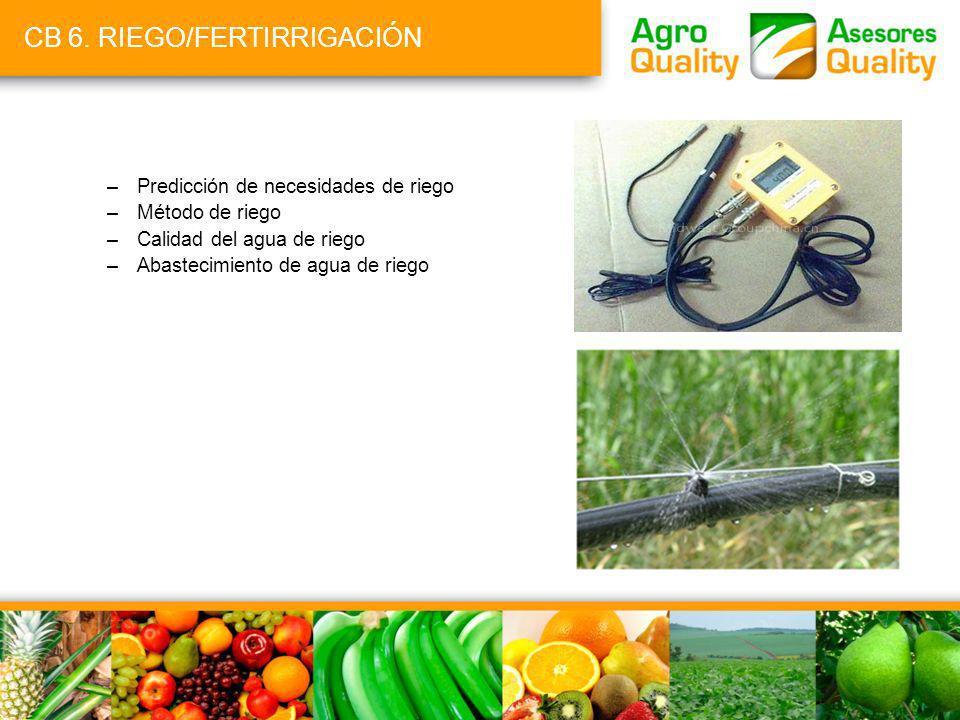 CB 6. RIEGO/FERTIRRIGACIÓN