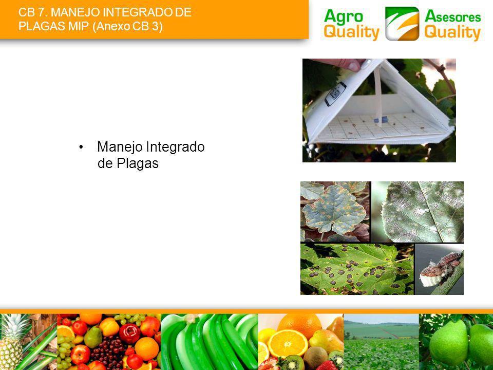 CB 7. MANEJO INTEGRADO DE PLAGAS MIP (Anexo CB 3)