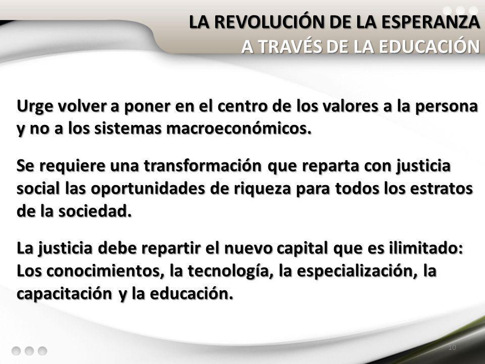 LA REVOLUCIÓN DE LA ESPERANZA