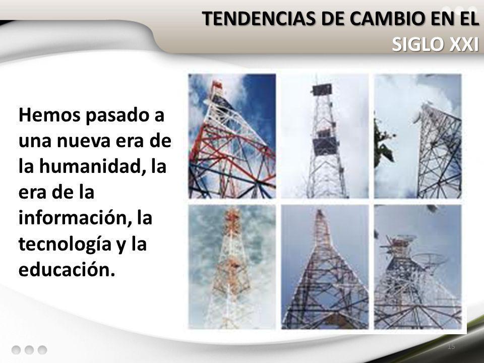 TENDENCIAS DE CAMBIO EN EL