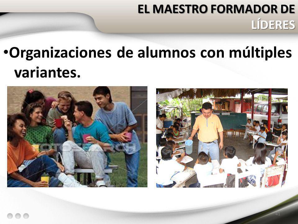 Organizaciones de alumnos con múltiples variantes.