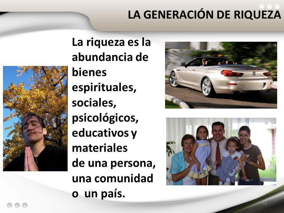 LA GENERACIÓN DE RIQUEZA