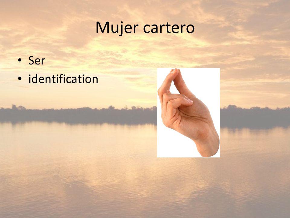 Mujer cartero Ser identification