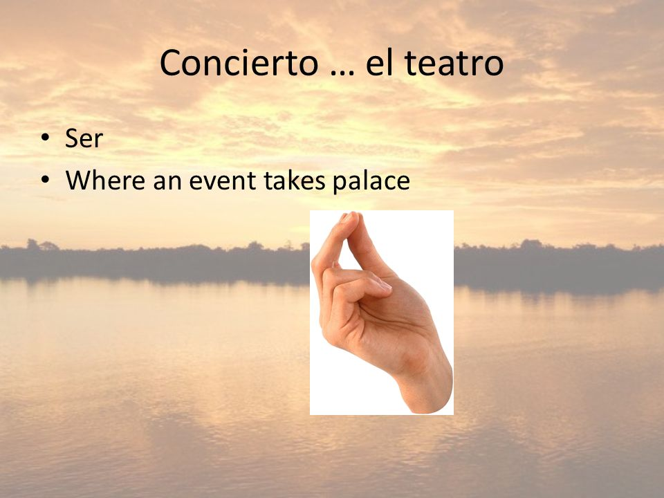 Concierto … el teatro Ser Where an event takes palace